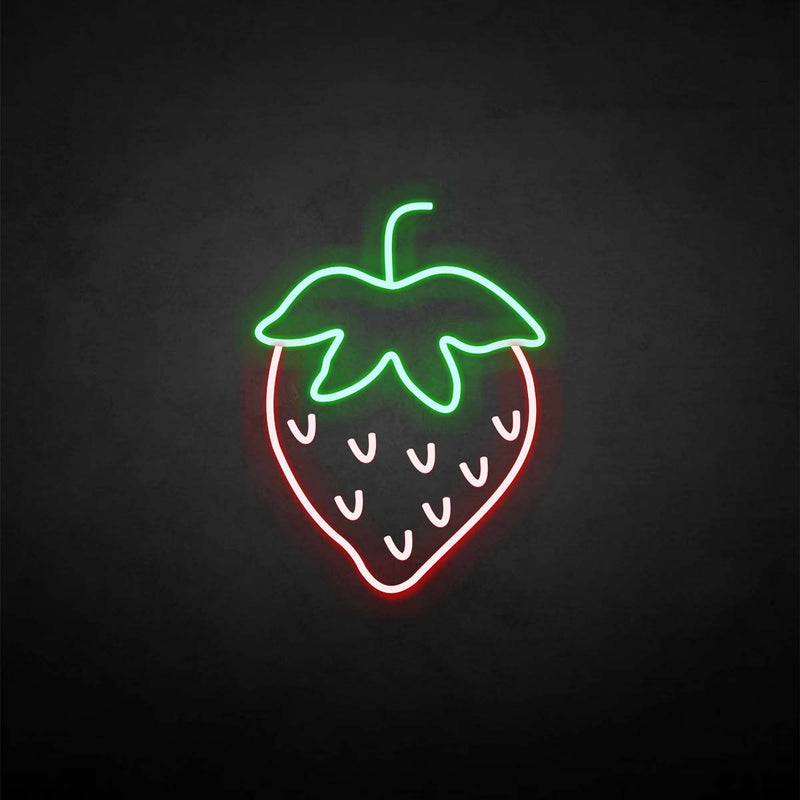 'strawberry' neon sign