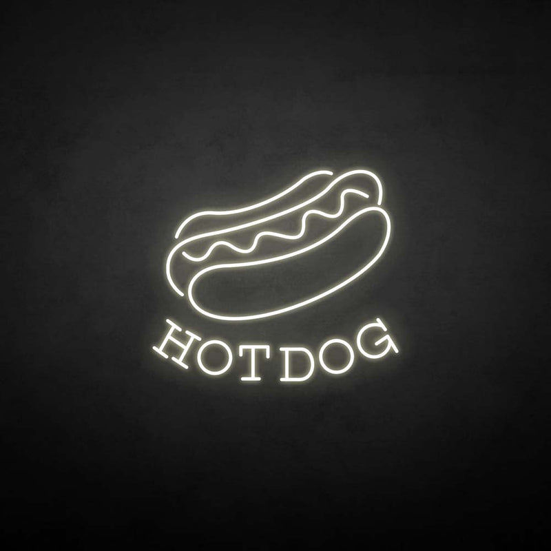 'Hot dog' neon sign