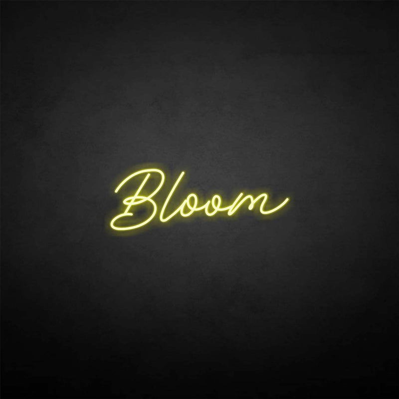 'Bloom' neon sign