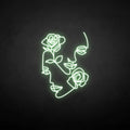 'Flower and people' neon sign