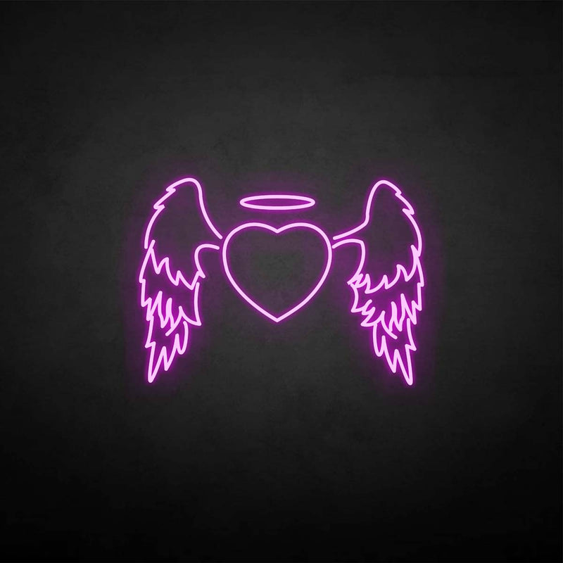 'Wings with heart' neon sign