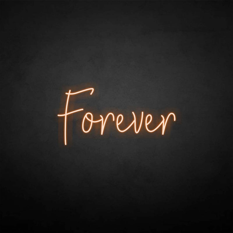 'Forever' neon sign