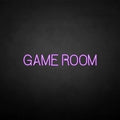 'GAME ROOM' neon sign