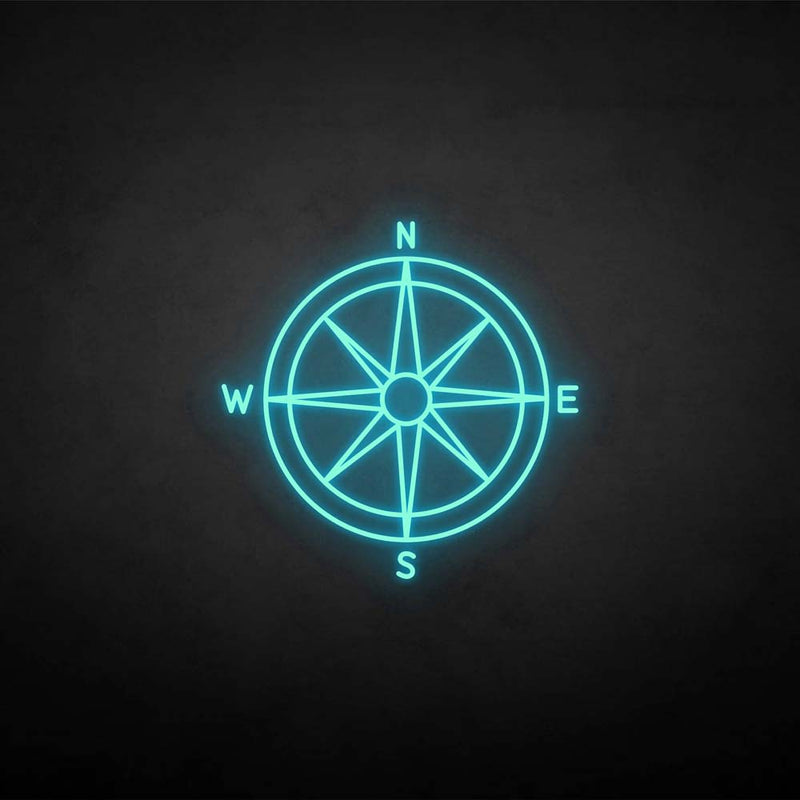 'Compass'neon sign