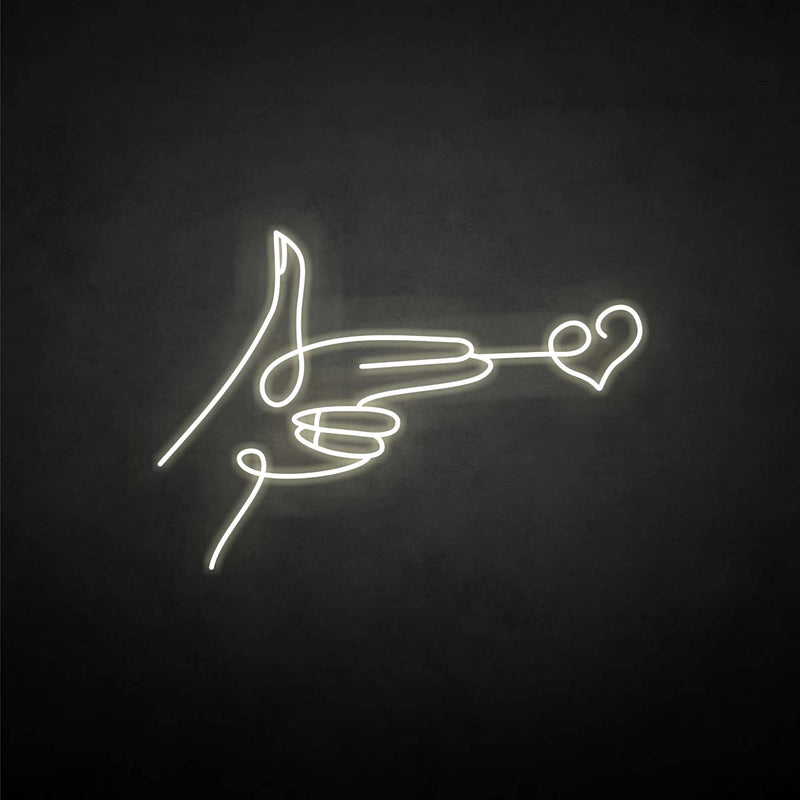 'send heart' neon sign