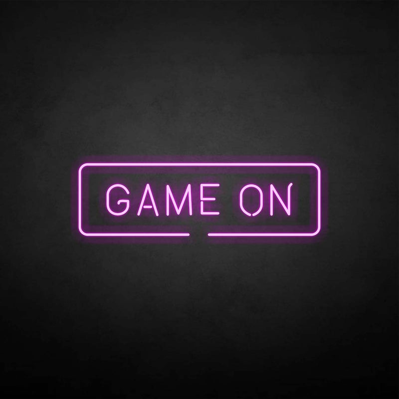 'Game on' neon sign