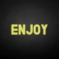 'Enjoy' neon sign