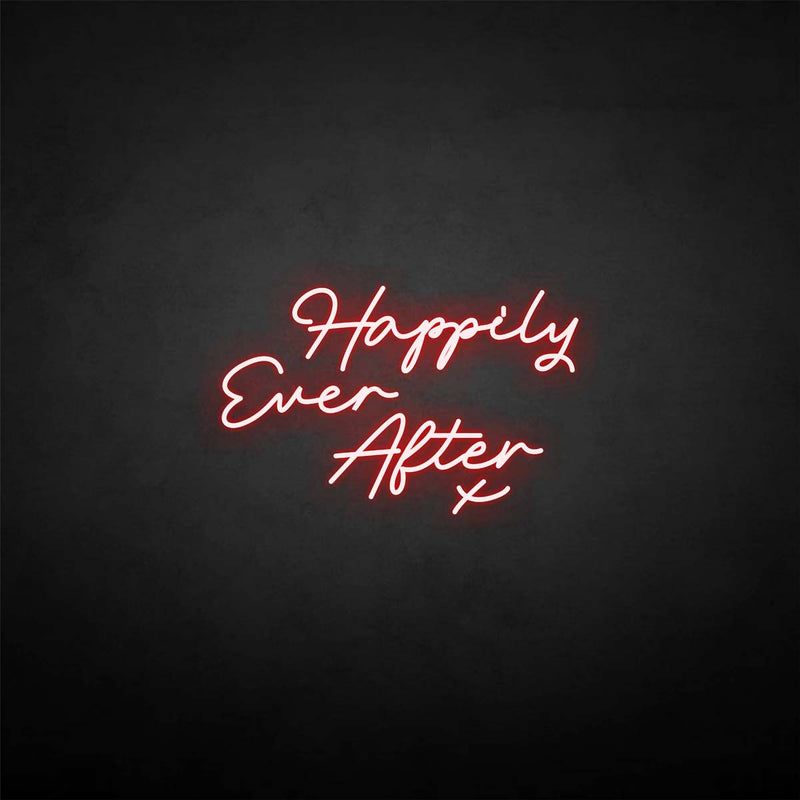 'Happy ever after X' neon sign