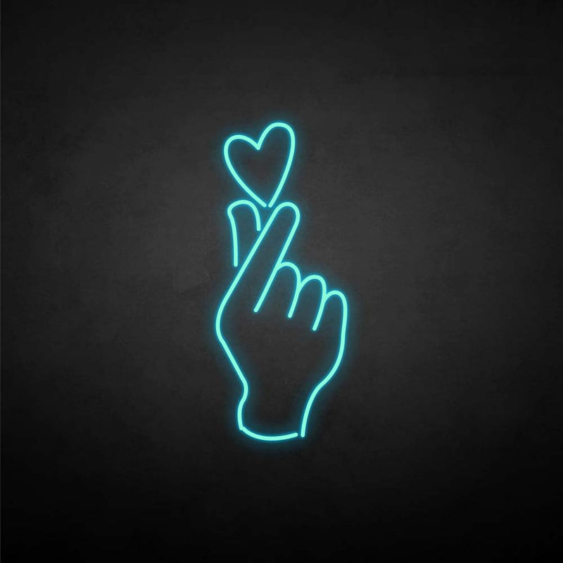 'Finger heart2' neon sign
