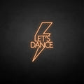 'Let's dance' neon sign