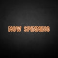 'NOW SPINNING' neon sign