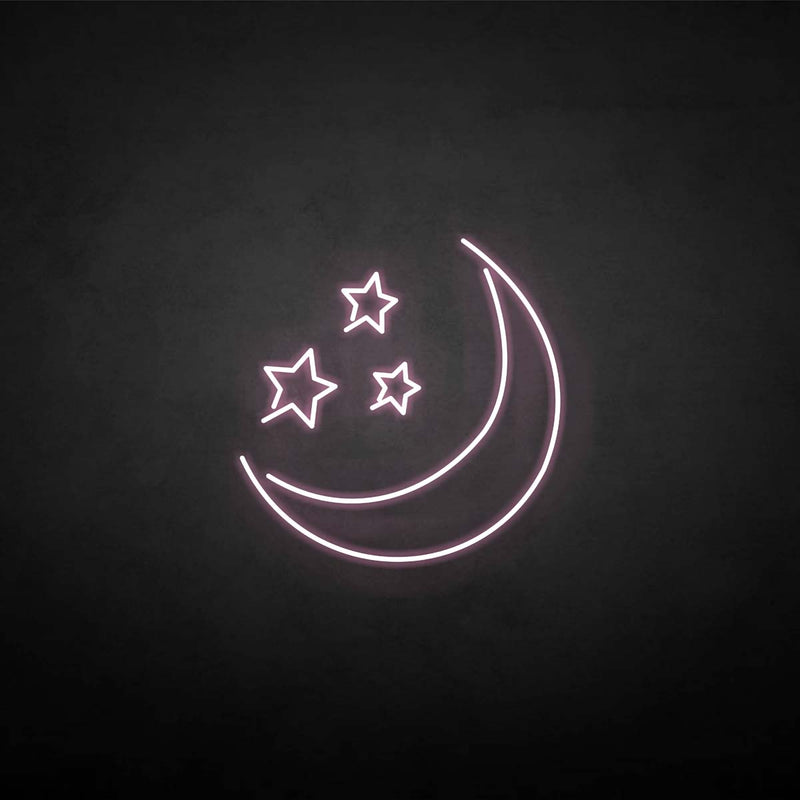 'Moon Star ' neon sign