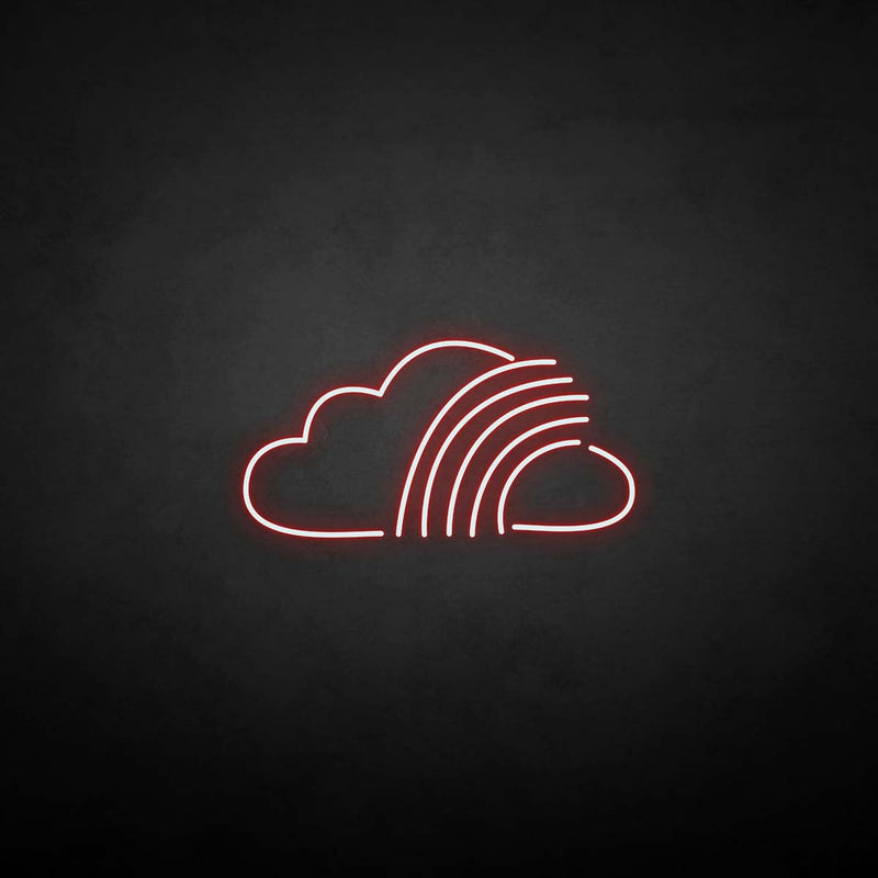 'Cloud with rainbow' neon sign