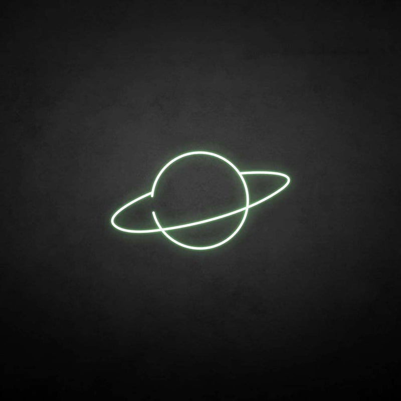 'Planet2' neon sign