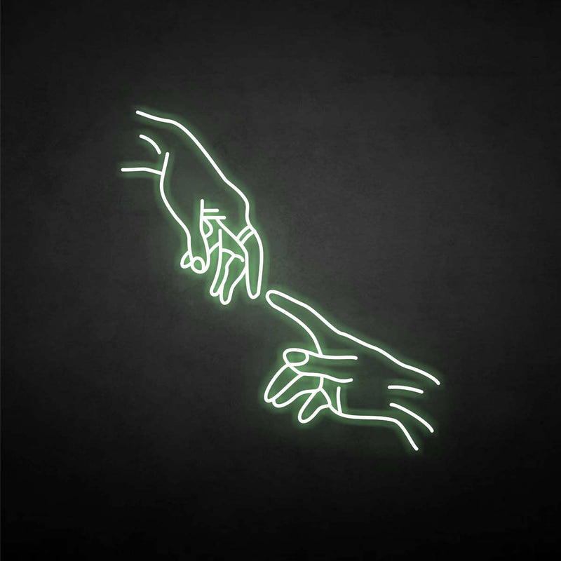 'touch finger' neon sign