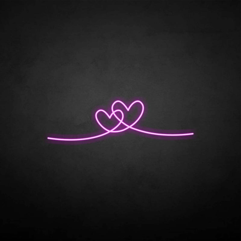 'heart by heart' neon sign