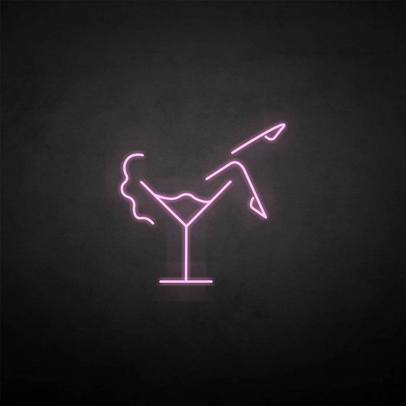 'Woman in the cup' neon sign
