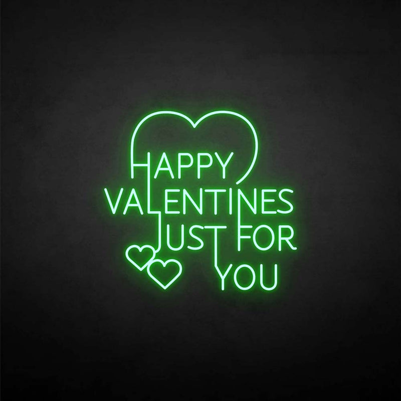 'Happy valentines for you' neon sign