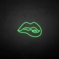 'Bite the Lips' neon sign