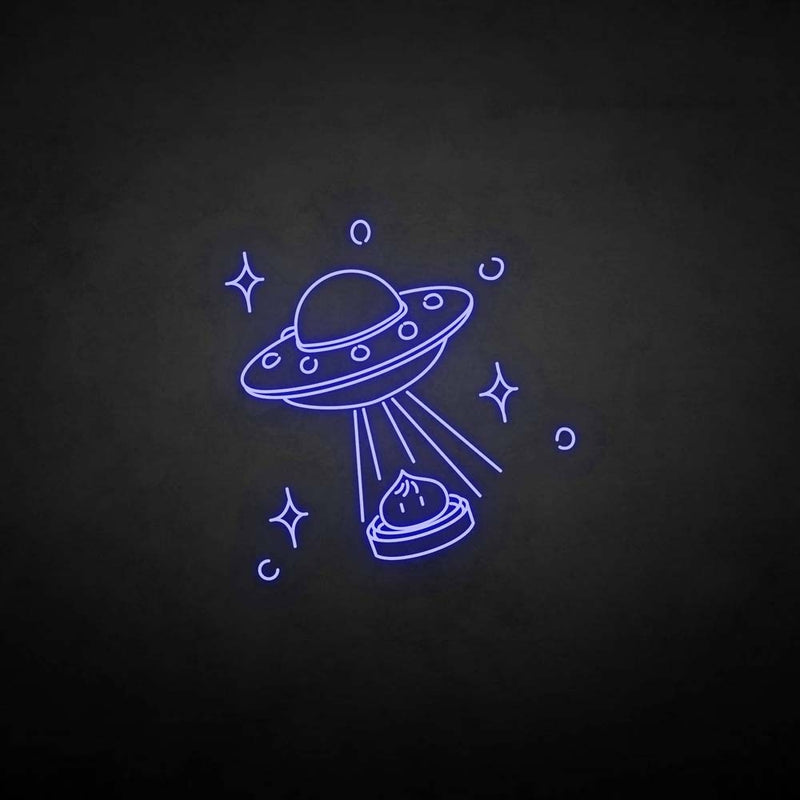 'The spaceship and the bun' neon sign