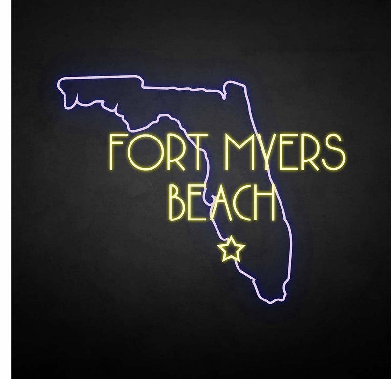 'FORT MYERS BEACH' neon sign