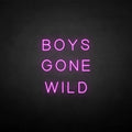 'BOYS GONE WILD' neon sign