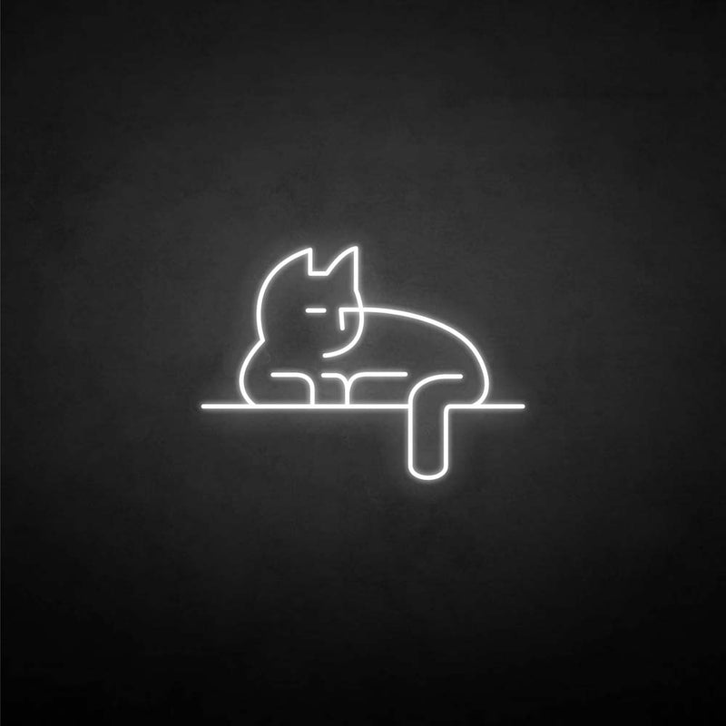 'Stick the cat' neon sign