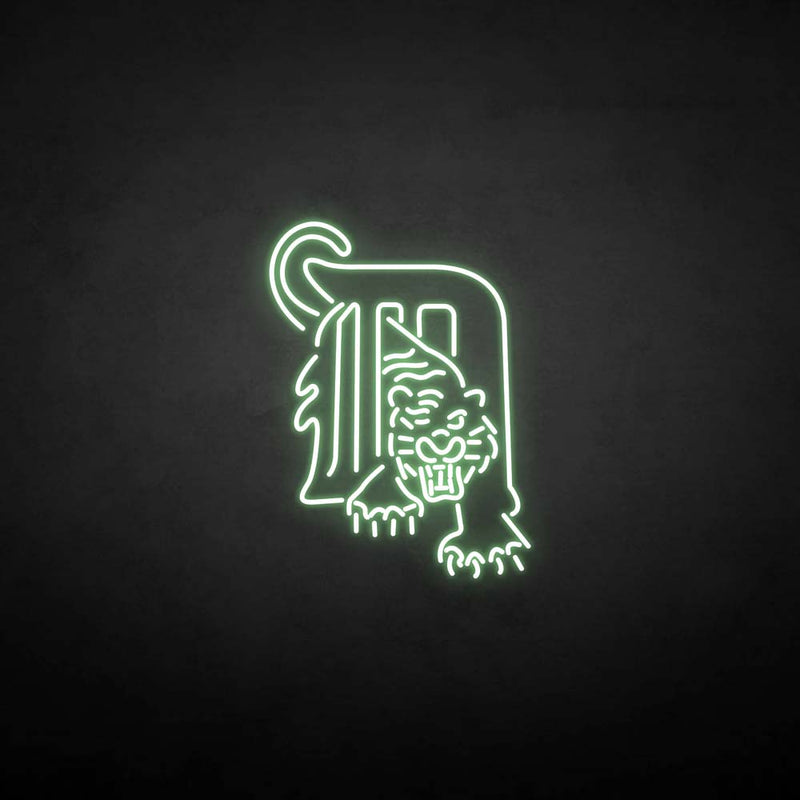 'm&tiger' neon sign