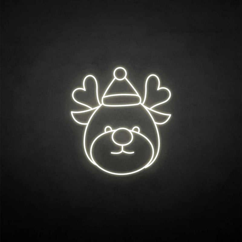 Christmas reindeer' neon sign