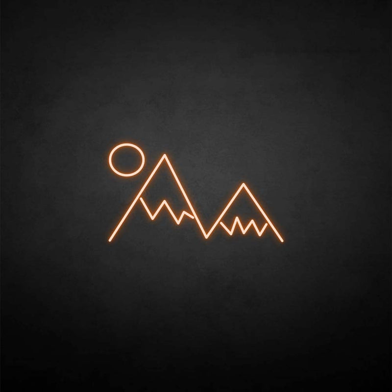 'Sunset and mountain' neon sign