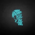 'PLEASE DON'T KILL MY VIBE' neon sign
