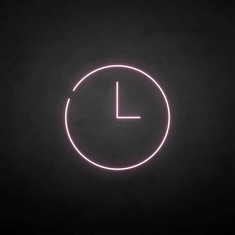 'Time' neon sign