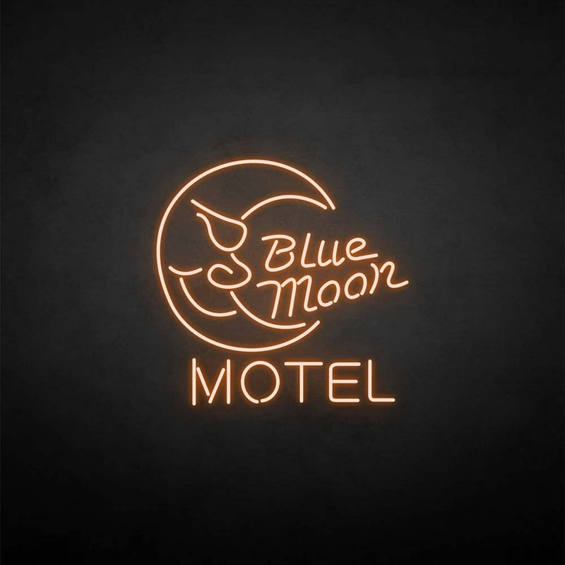 'Blue moon motel' neon sign