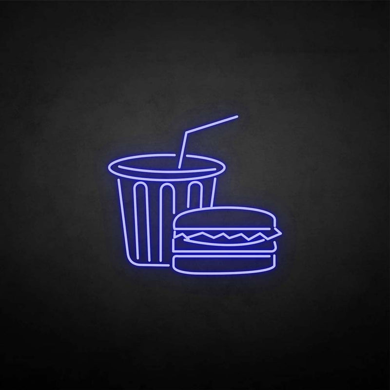 'Fast food' neon sign