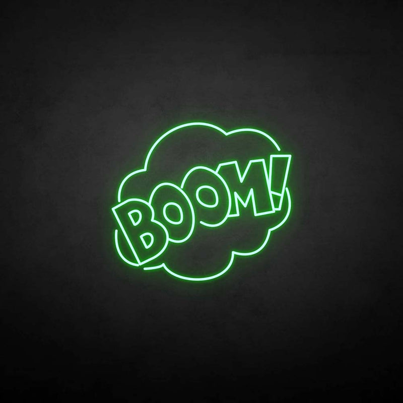 'BOOM!' neon sign