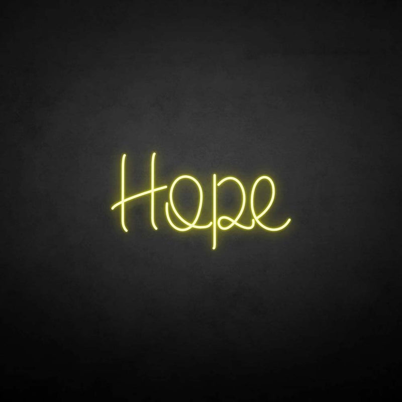'Hope' neon sign
