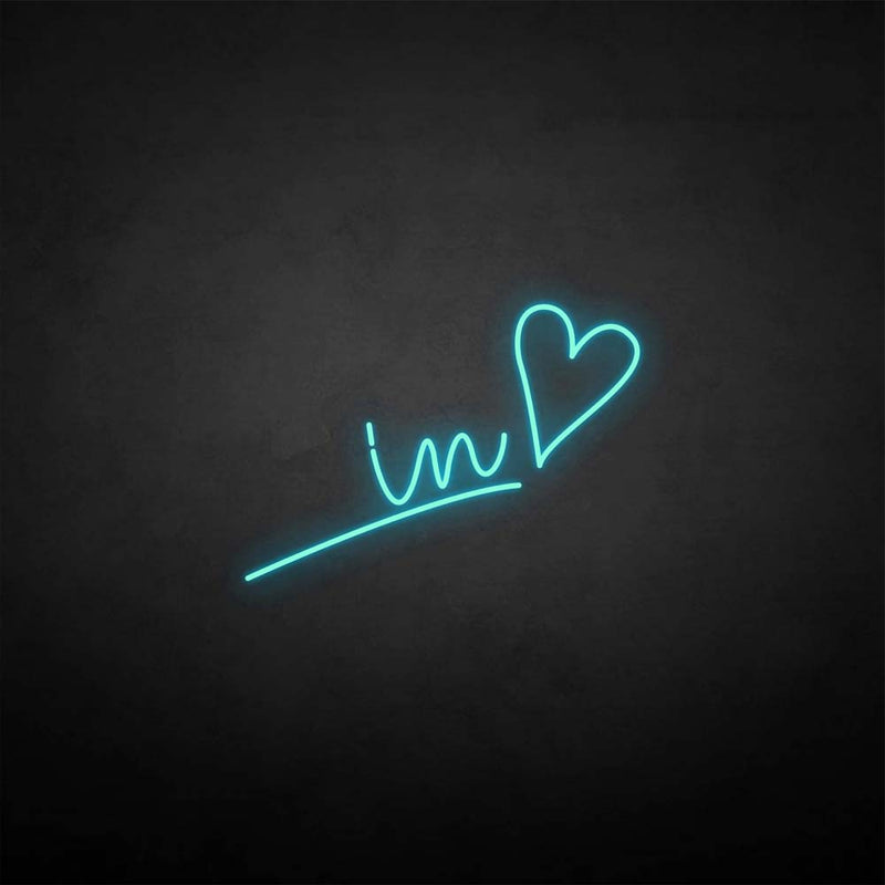 'In love' neon sign