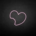 'The imperfect love' neon sign