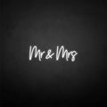 'Mr&Mrs' neon sign