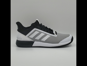 Adidas Men's Adizero Defiant Bounce 2 Tennis Shoes - Black and White