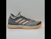 Load image into Gallery viewer, Adidas Men's Adizero Ubersonic 3 Tennis Shoes - Grey and Orange