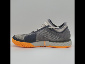 Adidas Men's Adizero Ubersonic 3 Tennis Shoes - Grey and Orange