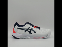 Load image into Gallery viewer, Asics Women's GEL Resolution 8 Tennis Shoes - White and Peacoat Wide