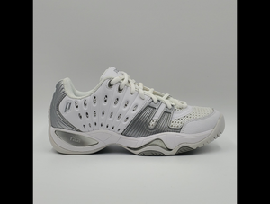 Prince Women's T22 Tennis Shoes - White and Silver