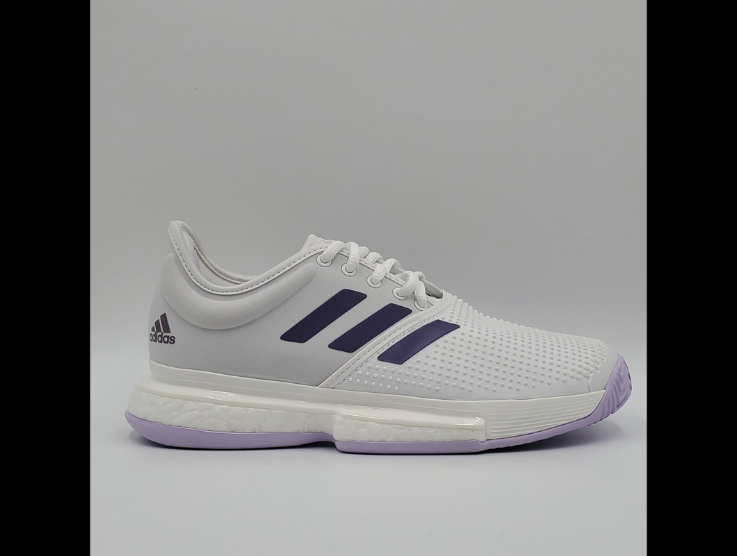 Adidas Women's SoleCourt Boost Tennis Shoes - White and Purple