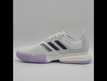 Load image into Gallery viewer, Adidas Women's SoleCourt Boost Tennis Shoes - White and Purple