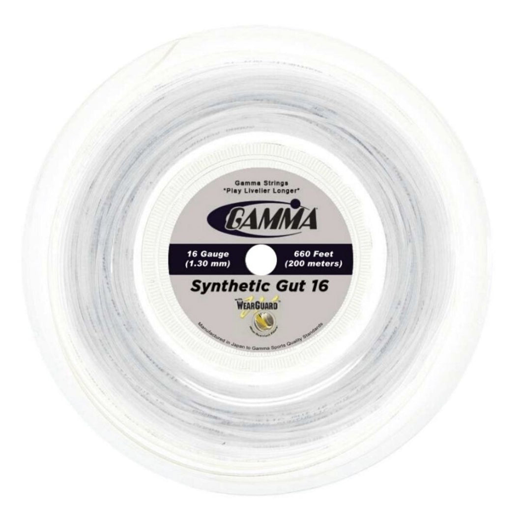 Gamma Synthetic Gut Tennis String Reel 16/1.30 Gauge
