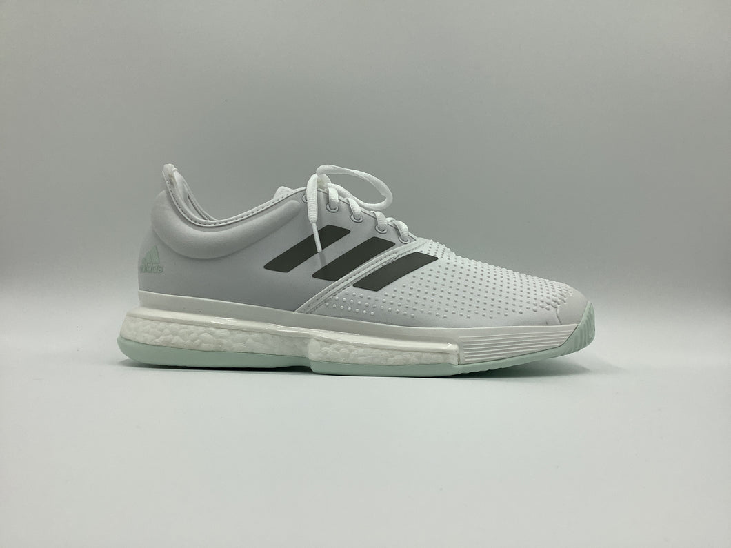 Adidas Men's SoleCourt Boost Parley Tennis Shoes - White and Mint