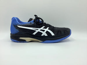 Asics Men's Solution Speed FF Tennis Shoes - Black and Blue Coast