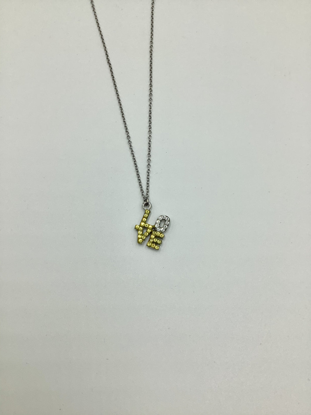 Emily Austin Love Necklace - Yellow and Silver Crystal